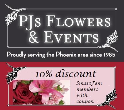 PJs Flowers coupon smartfem