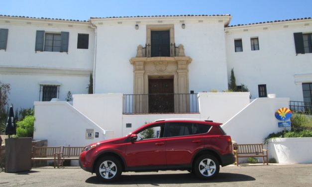 The Toyota RAV4 visits the Wrigley Mansion