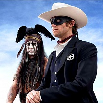 Johnny Depp and Armie Hammer_C2012 - Disney Enterprises, Inc. and Jerry Bruckheimer Inc. All Rights Reserved.