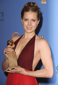 Amy Adams with her Golden Globe