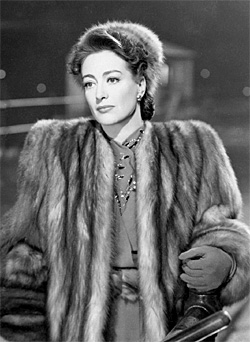Joan Crawford looking her best in a fur coat