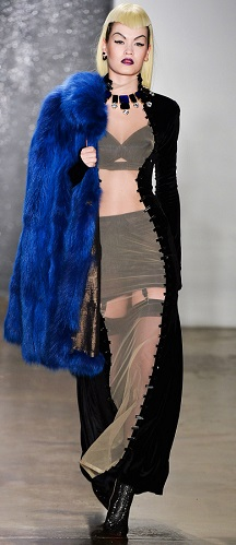 The Blonds Autumn/Winter 2014 edgy version of a sheer dress with stockings, brassiere and all