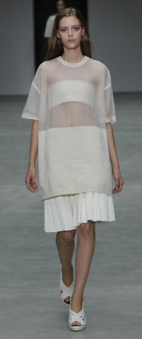 Calvin Klein Spring/Summer 2014 with a tasteful take on the sheer blouse
