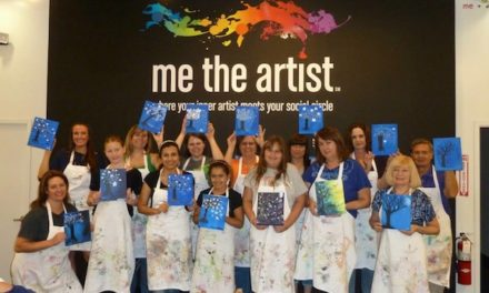 Fundraising and Wine Glass Painting at Me The Artist