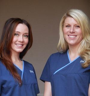 Student Aestheticians Adele and Amanda