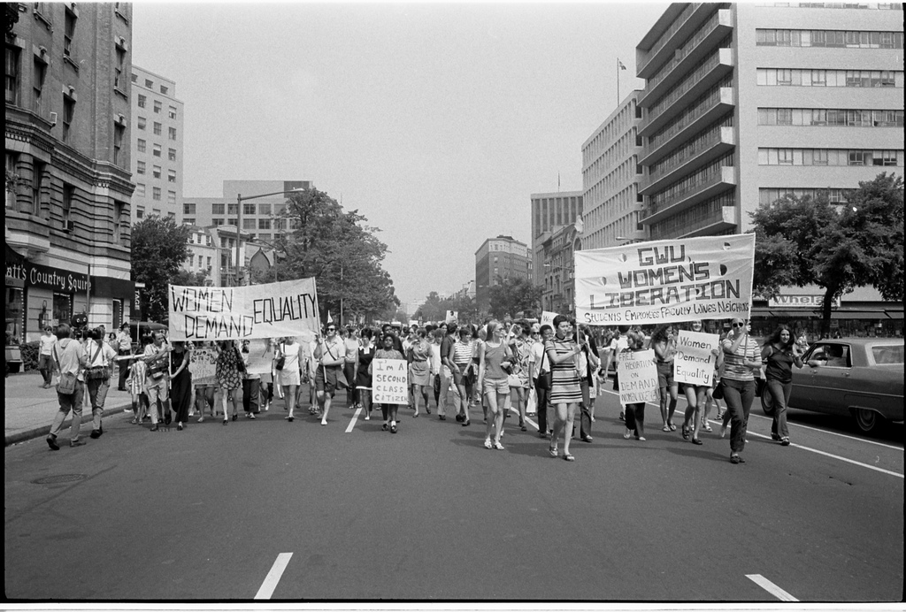 Feminist protests in the 70s were viewed as radical and destructive.