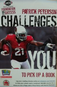 Patrick Peterson football player reading challenge