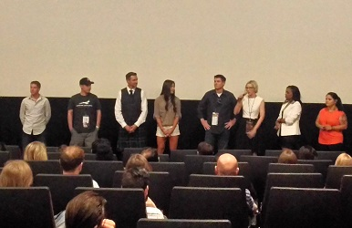 The cast of Seven Hours in Heaven doing a Q&A at Phoenix FIlm Festival