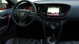 Orange 2015 Dodge Dart review high tech interior