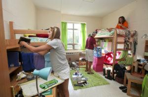 Girls Moving Into Dorm