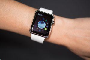 The Apple Watch on a woman's wrist.