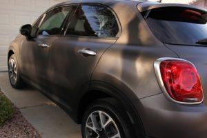 Fiat 500X review matte bronze paint shadow effect