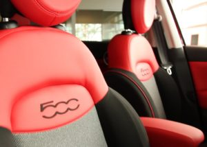 Fiat 500X review red interior