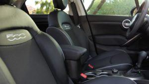 Fiat500X review black interior