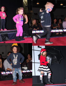 Children models at the Kids Rock the Runway fashion show