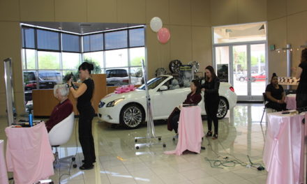Coulter Infiniti and ROLFS Salon Come Together and go Pink for Breast Cancer Awareness