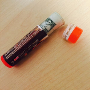 Money inside of chapstick