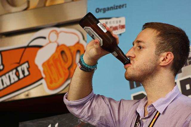 guy. drinking.
