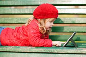 Technology Obsessed-little girl