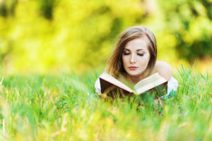 Outlander Review_woman in grass