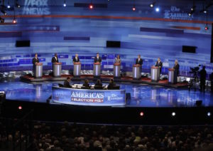 Rick Santorum, Herman Cain, Ron Paul, Mitt Romney, Michele Bachmann, Tim Pawlenty, Jon Huntsman, Newt Gingrich