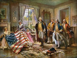 Flag and George Washington