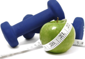 weight and an apple
