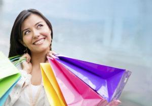 Thoughtful woman shopping