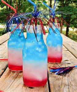 4th of July layered beverage