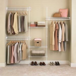 wardrobe, closet, organized closet