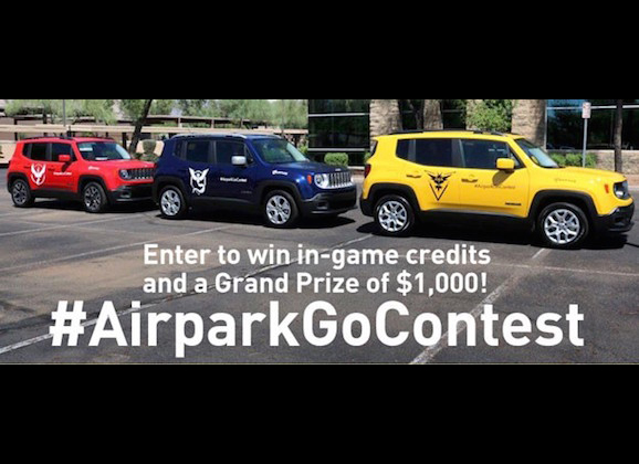 Airpark Chrysler Jeep Dodge's Pokémon Go Contest